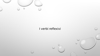 Reflexive Verbs to express a daily routine in Italian
