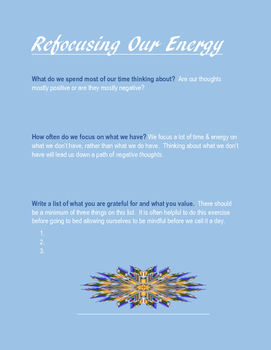 Refocusing Our Energy Worksheet