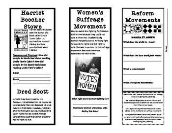 Reform Movements Brochure
