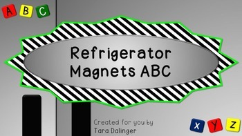 Refrigerator Magnets ABC: Tools for Interactive Whiteboard