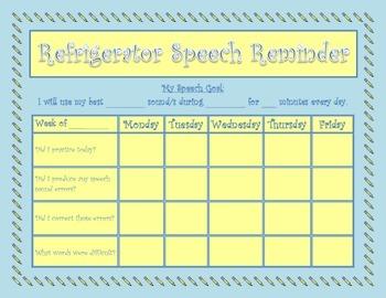 Refrigerator Speech Reminder
