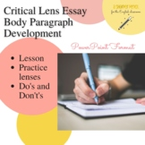 Regents Critical Lens Essay Writing: Body Paragraph Powerpoint