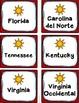 Región Sureste Tarjetas Capitales (Cinco Regiones de los E