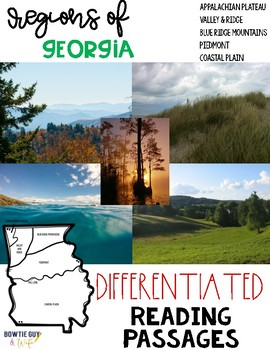 Regions of Georgia Differentiated Reading Passages & Questions