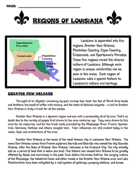 Regions of Louisiana Research Article