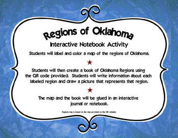 Regions of Oklahoma Interactive Notebook Activity