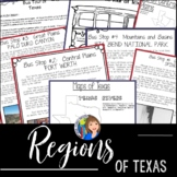 Regions of Texas Writing Activity