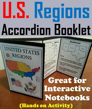 Five Regions of the United States Geography Interactive No