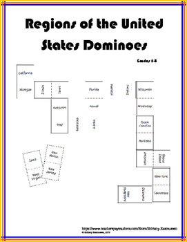 Regions of the United States Dominoes
