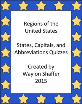Regions of the United States Quizzes