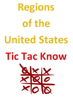 Regions of the United States Tic Tac Know