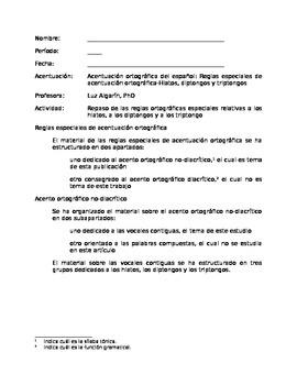 Acentuación ortográfica-Reglas especiales para los hiatos
