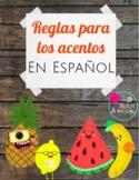 Reglas para los acentos de Espanol / rules for Spanish accents