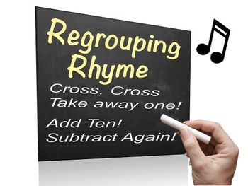 Regrouping Song - Powerpoint - easy way to remember how to