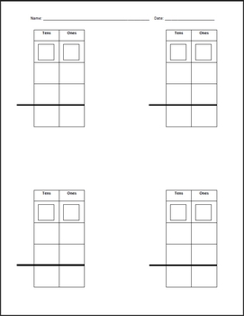 Regrouping Template for 2 and 3 Digit Addition... by Ohio ...