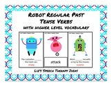 Regular Past Tense Robots with Higher Level Vocabulary