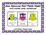 Regular Past Tense Verbs Owls Activity with Higher Level V