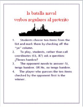 Regular Preterit Battleships