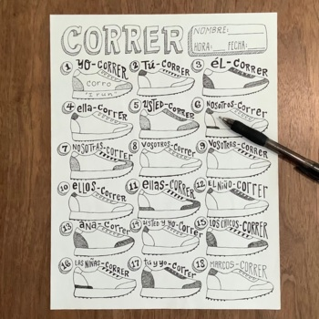 Regular Spanish Verbs ~ER verbs ~Correr ~Conjugation ~tran