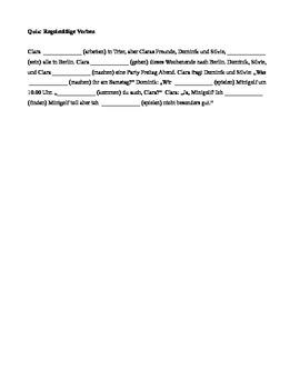 Regular Verbs Quiz (German)