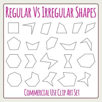 Regular Vs Irregular Shapes - Geometry Perimeters Area Etc