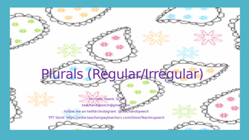 Regular and Irregular Plurals