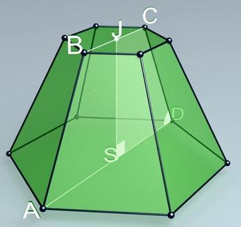 Regular hexagonal truncated pyramid (3d video model)