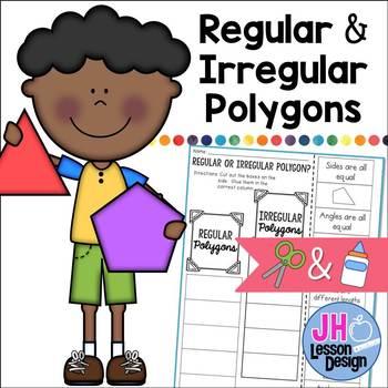 Regular or Irregular Polygon? Cut and Paste Sorting Activity