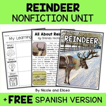 Nonfiction Reindeer Unit Activities