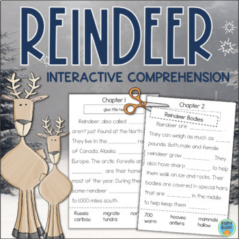 All About Reindeer Interactive Reading Comprehension