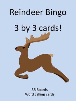 Reindeer 3 by 3 BINGO!