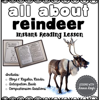 Reindeer Instant Comprehension Reading Lesson