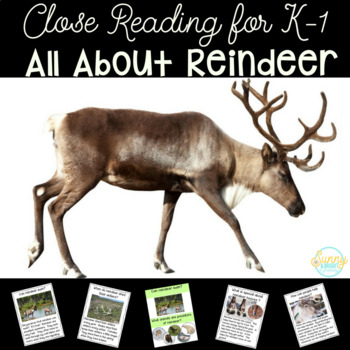 Reindeer Close Reading Unit for Kindergarten and First Gra