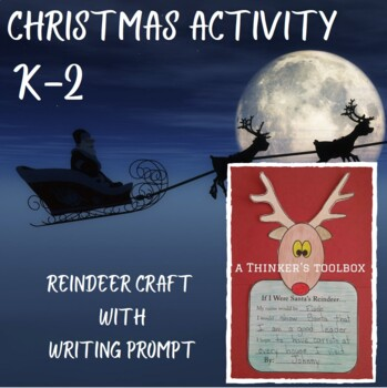 Reindeer Craft with Writing Prompt