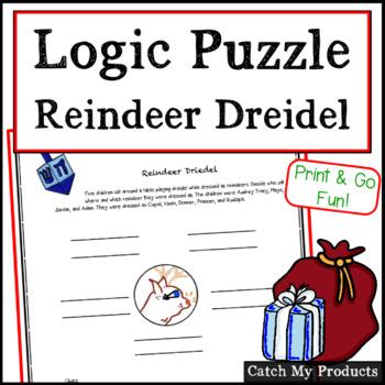 Christmas: Reindeer Dreidel Logic Problem for Intellectual
