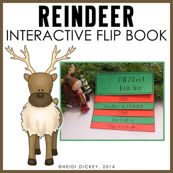 Reindeer Flip Book