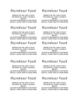 Reindeer Food!