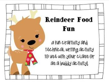 Reindeer Food Craftivity and Writing
