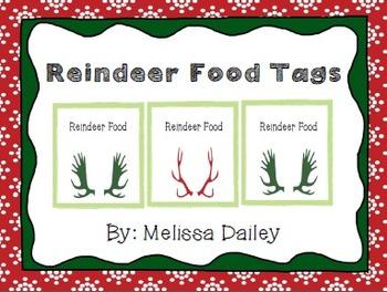 Reindeer Food Tags