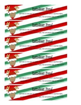 Reindeer Food Tags & Recipe