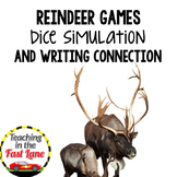 Christmas Reindeer Games Dice Simulation with Writing Connection