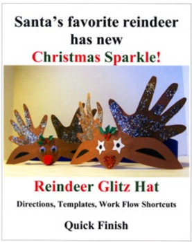 Glitz Hat: Santa's favorite reindeer has new Christmas Sparkle!