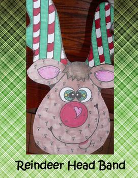 Reindeer Head  Band Art Project