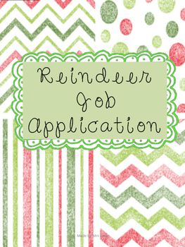 Reindeer Job Application