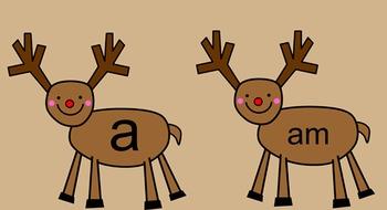 Reindeer Kindergarten Sight Words Smartboard