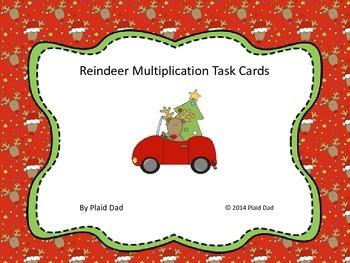 Reindeer Multiplication Task Cards