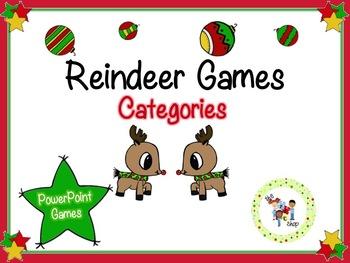 Reindeer PowerPoint Games - Categories