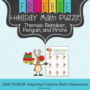Math Holiday Puzzle