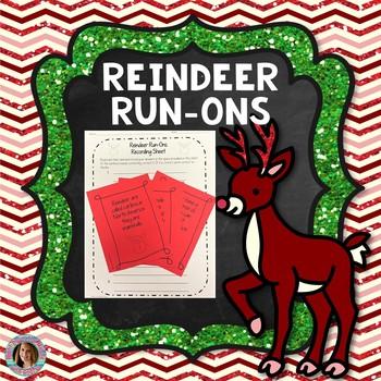 Reindeer Run-Ons {Task Card Set}