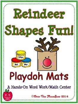 Reindeer Shapes Fun! Playdoh Activity Pack